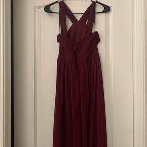 Lulu's Dresses - Lulus Air of Romance Burgundy Dress